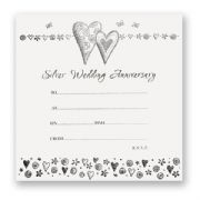 Silver Wedding Anniversary Invitations - Pack of 10